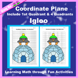 Winter Coordinate Graphing Picture: Igloo