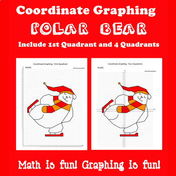 Winter Coordinate Graphing Picture:Polar Bear