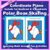 Winter Coordinate Graphing Picture: Polar Bear Skating