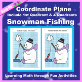 Winter Coordinate Graphing Picture: Snowman Fishing