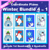 Winter Coordinate Graphing Picture: Winter Bundle 4 in 1