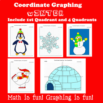 Winter Coordinate Graphing Picture:Winter Bundle 5 in 1