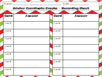 NEW  Winter Coordinate Graphs Task Cards (TEKS 5.8A, 5.8B, 5.8C & CC 5.G.A.1)