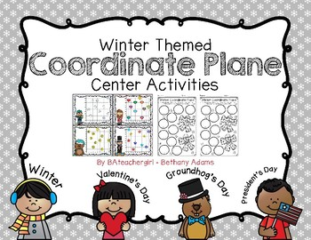 Winter Coordinate Plane Activities *~ 4 Different Winter Themes ~*