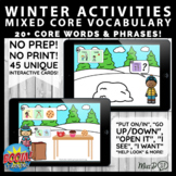 Winter Core Vocabulary  AAC Functional Early Language BOOM CARDS™