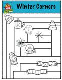 Winter Corners (P4 Clips Trioriginals Digital Clip Art)