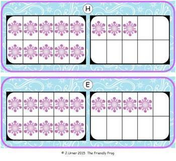 Winter Count, Add & Subtract Bundle with 10 & 20 Frames {Subitizing}