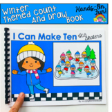 Winter Count And Draw Adapted Book:  I Can Make Ten Ice Skaters