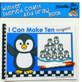 Winter Count And Draw Adapted Book:  I Can Make Ten Penguins