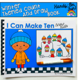 Winter Count And Draw Adapted Book:  I Can Make Ten Snow Kids