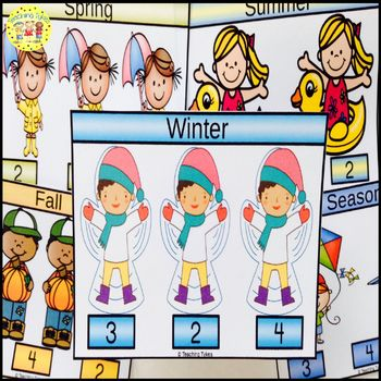 Winter Count and Clip Seasons Task Cards