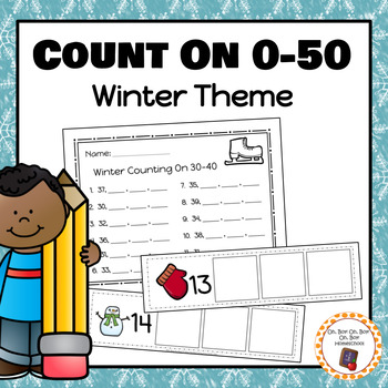 Winter Count On Strips and Worksheets for 0-50