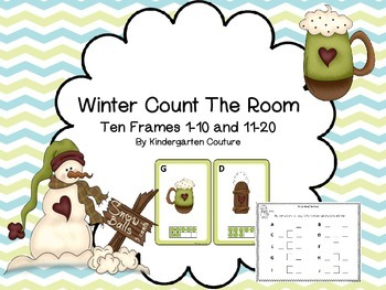 Winter Count The Room -Ten Frames 1-10 and 11-20