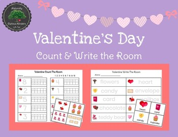 Valentine's Day Count & Write the Room - Real pictures, 1 to 10 February