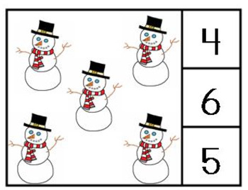 Winter Count and Clip Cards 1-20 (Colored Version)