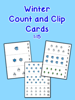 Winter Count and Clip Cards - Set of 15