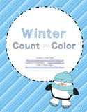 Count and Color 1-10 Winter