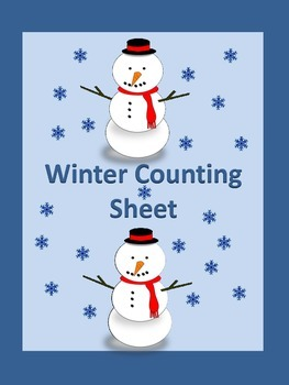 Winter Count and Write Counting Math Worksheet **FREE**