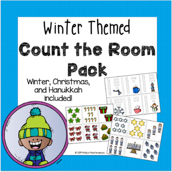 "Winter ""Count the Room"" Pack - Christmas and Hanukkah included!"