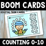 Winter Counting 0-10  Boom Cards -  Winter Math Activity