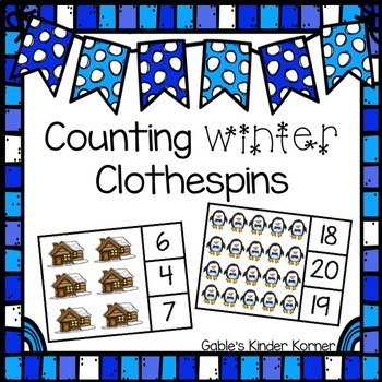 Winter Counting 1-20 Clothespin Activity