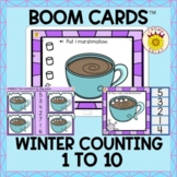 Winter Counting 1 to 10 Counting Marshmallows Boom Cards™