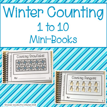 Winter Counting 1 to10 Mini Books