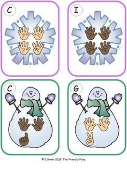 Winter Counting 11-20 {Subitizing with Fingers}