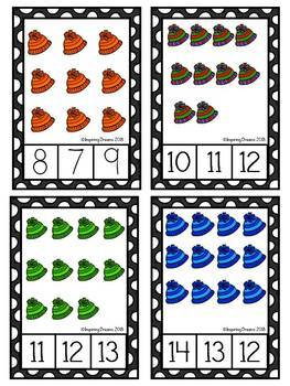 Winter Counting Activity Numbers 1-30