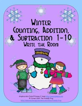 Winter Counting, Addition & Subtraction 1-10: Write the Room
