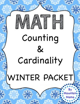 Winter Math Counting & Cardinality Worksheets and Activities Numbers