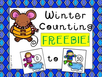 Winter Counting Cards 0 - 50 FREEBIE