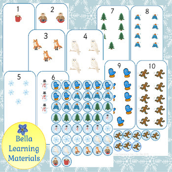 Winter Counting Cards - Montessori