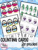 Winter Counting Cards for Preschool Math Center