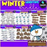Winter Counting Clip Art Big Bundle {Educlips Clipart}