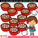 Winter Counting Clip Art - Counting Hot Cocoa