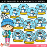 Winter Counting Clip Art - Counting Snow Globes
