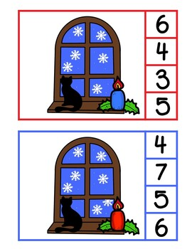 Winter Counting Clip Cards {1 - 10}