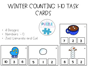 Winter Counting Task Cards