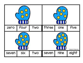 Winter Counting Clip Cards