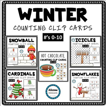 Winter Counting Clip Cards BUNDLE