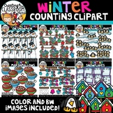 Winter Counting Clipart Bundle {Winter Clipart}