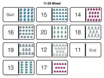 Winter Counting Dominoes Game