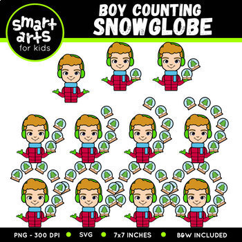 Winter Counting Kids Clipart Bundle