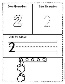 Winter Counting Notebook Preschool Worksheets