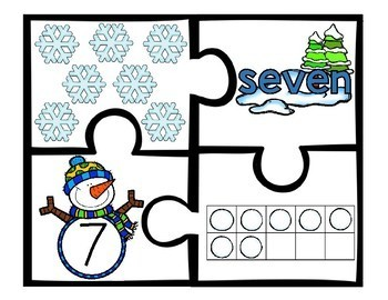 Winter Counting Number Puzzles 1 - 10