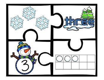 Winter Counting Number Puzzles 1 - 5
