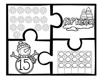 Winter Counting Number Puzzles 11 - 20