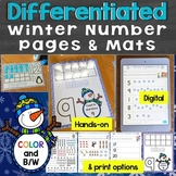 Winter Counting & Numbers Practice 1-20 (Differentiated, Common Core)