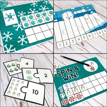 Winter Counting Pack - Hands On Counting Activities for Numbers 1-20